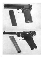 1905 Colt 45 and a Luger 45 Fine Art Print