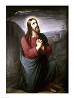 Christ Praying in Gethsemane Christian Schleisner (1810-1882) Fine Art Print