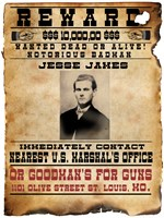 Jesse James Wanted Poster Framed Print