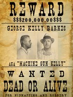 Machine Gun Kelly Wanted Poster Fine Art Print