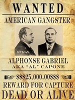 Al Capone Wanted Poster Framed Print