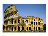 Low angle view of a coliseum, Colosseum, Rome, Italy Landscape Framed Print