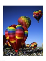 Hot air balloons at the Albuquerque International Balloon Fiesta, Albuquerque, New Mexico, USA Vertical Fine Art Print