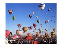 Group of Hot Air Balloons Taking Off Fine Art Print