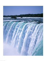 Water flowing over Niagara Falls, Ontario, Canada Fine Art Print