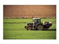 Tractor in a field, Newcastle, Ireland Fine Art Print