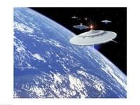 UFO's Framed Print