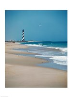 Cape Hatteras Lighthouse Cape Hatteras National Seashore North Carolina USA Prior to 1999 Relocation Framed Print