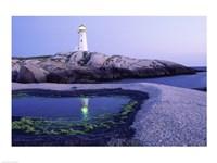 Peggy's Cove Lighthouse, Peggy's Cove, Nova Scotia, Canada Fine Art Print