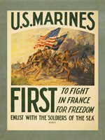 Enlist with the Soilders of the Sea Fine Art Print