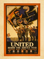 United Behind the Service Star Fine Art Print