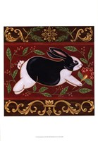 Folk Rabbit II Fine Art Print