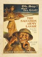 The Salvation Army Lassie Fine Art Print