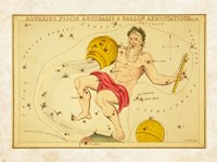Aquarius, Pices Australis & Ballon Aerostatique Constellation Framed Print