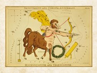 Sagiuuarius and Corona Australis Framed Print