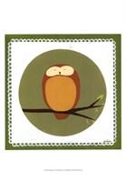 Owl Cameo I Framed Print