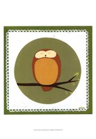 Owl Cameo I Fine Art Print