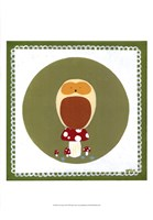 Owl Cameo III Framed Print