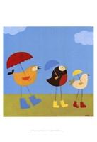 Rainy Day Birds I Fine Art Print