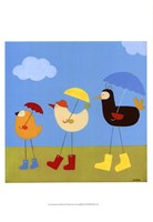 Rainy Day Birds II Framed Print