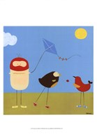 Sunny Day Birds I Framed Print