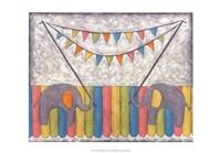 Carnival Elephants Framed Print