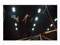 The Flying Redpaths Royal Hanneford Circus in action Fine Art Print