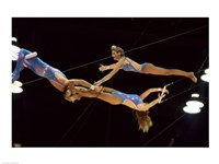 The Flying Redpaths Royal Hanneford Circus mid air Fine Art Print