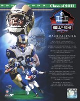 Marshall Faulk 2011 Hall of Fame Composite Fine Art Print