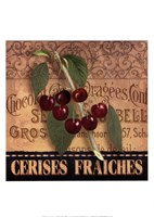 French Cherries Framed Print