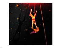 Continental Circus Double Trapeze Act Fine Art Print