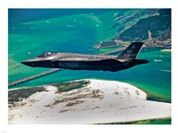 First F-35 Headed for USAF Service Fine Art Print