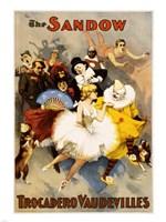 The Sandow Trocadero Vaudevilles, Performing Arts Poster, 1894 Fine Art Print