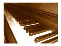 Klavier Tastatur Fine Art Print