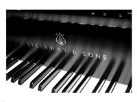 Steinway & Sons, Piano Keys With Modern Logo Framed Print