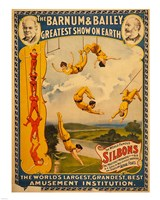 Trapeze Artists, Barnum & Bailey, 1896 Framed Print