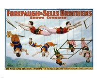 Trapeze Artists 1899 Fine Art Print