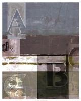 Letter Play I Framed Print