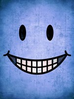 Hang up a Smile (blue) Fine Art Print