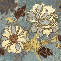 Sophias Flowers I - Blue Fine Art Print
