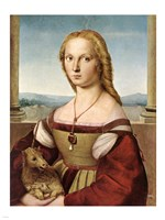 Lady with Unicorn by Rafael Santi Fine Art Print