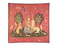 Maiden with Unicorn Tapestry Fine Art Print