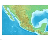 Map of Mexico Demis Fine Art Print