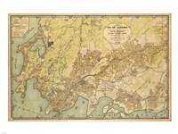 Mapa da Cidade do Rio de Janeiro - 1929 Framed Print