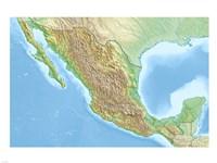 Mexico Relief Location Map Fine Art Print