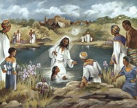 Baptism at River's Edge Fine Art Print