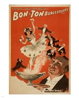 Bon-Ton Burlesquers With Server Fine Art Print