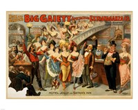 Big Gaiety's Spectacular Extravaganza Co. Fine Art Print