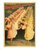 Big Gaiety's Spectacular Extravaganza - The Gaiety Dancers Fine Art Print