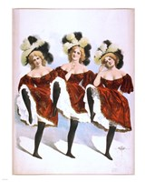 Can-Can Dancers Fine Art Print